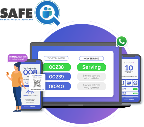 Covid-19 SafeQ - Virtual Queuing Solutions to Manage Customer Flow